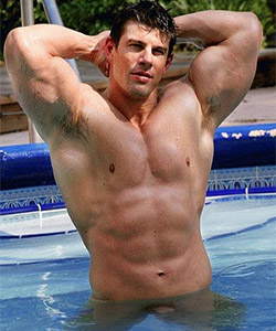 zeb atlas nude in the pool